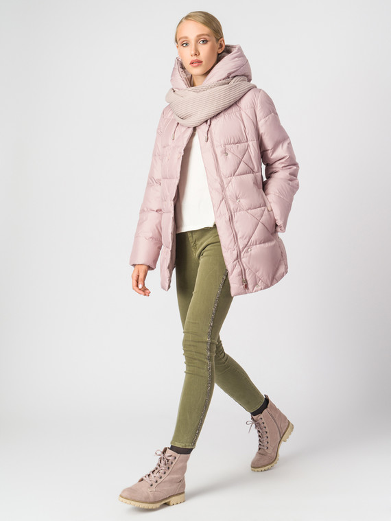 Пуховик текстиль, цвет розовый, арт. 11006289  - цена 7990 руб.  - магазин TOTOGROUP