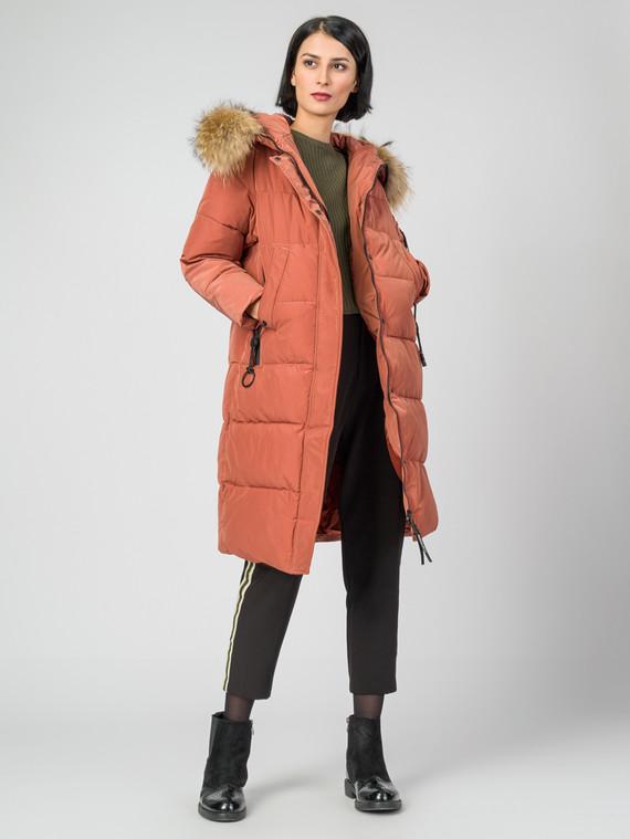 Пуховик текстиль, цвет оранжевый, арт. 11006499  - цена 9990 руб.  - магазин TOTOGROUP