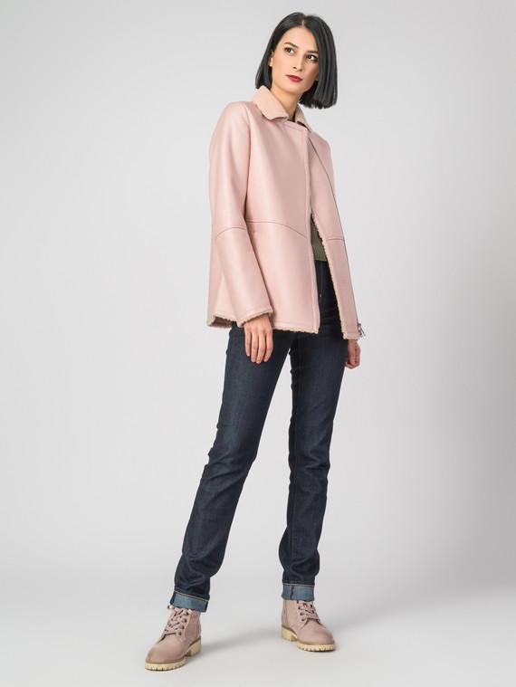 Дубленка эко-кожа 100% П/А, цвет розовый, арт. 11007041  - цена 7990 руб.  - магазин TOTOGROUP
