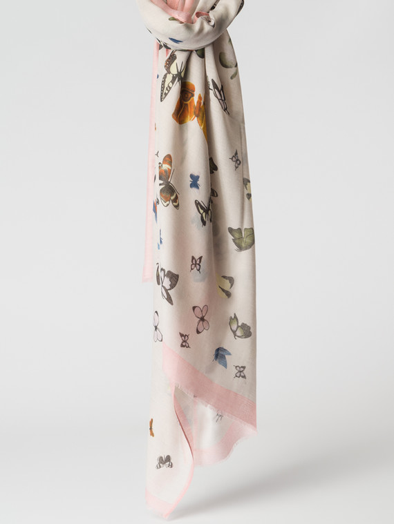 Шарф 100% вискоза, цвет розовый, арт. 11007156  - цена 1070 руб.  - магазин TOTOGROUP