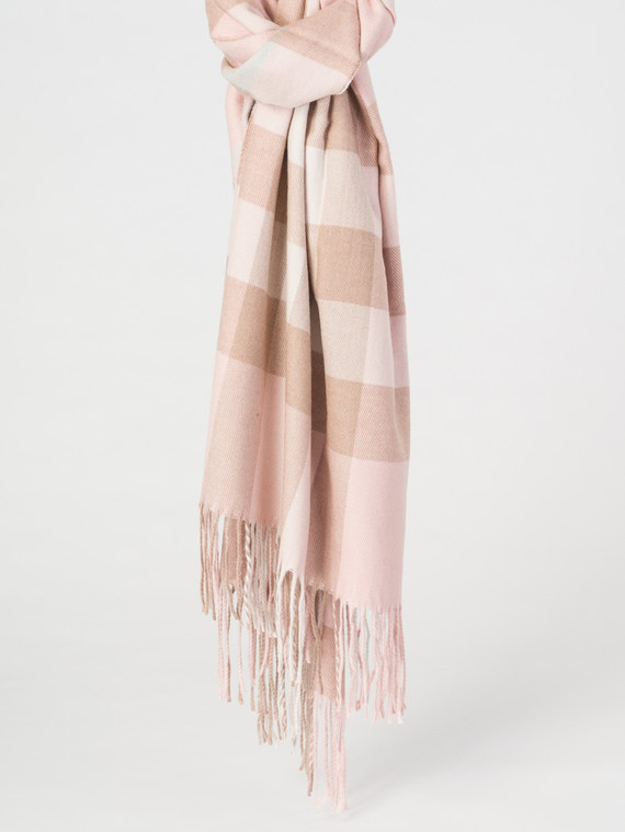 Шарф 50% акрил, 50%шерсть, цвет розовый, арт. 11007630  - цена 1410 руб.  - магазин TOTOGROUP