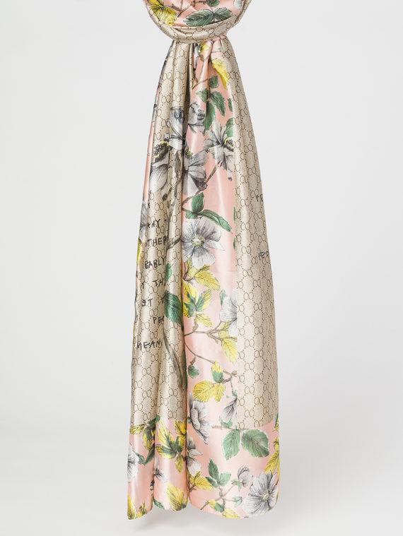 Шарф 100% шелк, цвет розовый, арт. 11107809  - цена 790 руб.  - магазин TOTOGROUP