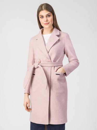 Текстильное пальто 30%шерсть, 70% п.э, цвет розовый, арт. 11107818  - цена 6290 руб.  - магазин TOTOGROUP