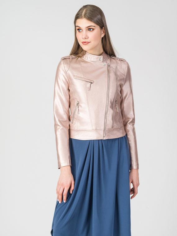 Кожаная куртка эко-кожа 100% П/А, цвет розовый, арт. 11107824  - цена 2990 руб.  - магазин TOTOGROUP