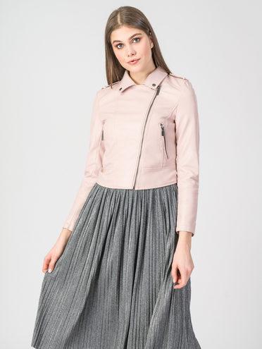 Кожаная куртка эко-кожа 100% П/А, цвет розовый, арт. 11107829  - цена 3390 руб.  - магазин TOTOGROUP