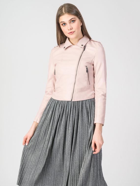 Кожаная куртка эко-кожа 100% П/А, цвет розовый, арт. 11107829  - цена 3190 руб.  - магазин TOTOGROUP