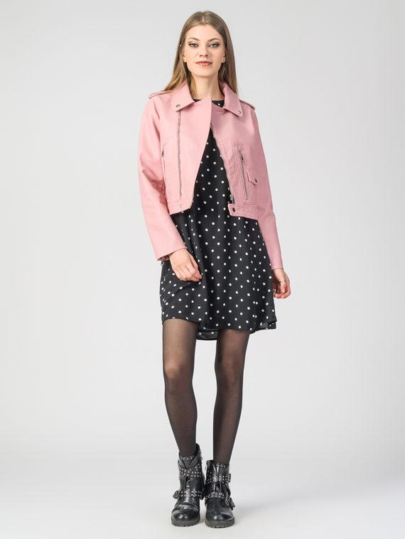 Кожаная куртка эко-кожа 100% П/А, цвет розовый, арт. 11107835  - цена 2990 руб.  - магазин TOTOGROUP