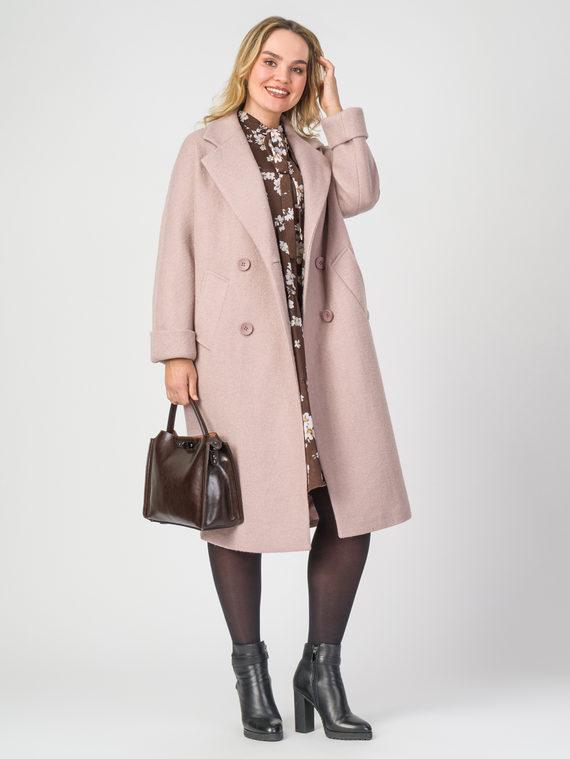 Текстильное пальто 30%шерсть, 70% п.э, цвет розовый, арт. 11107896  - цена 6290 руб.  - магазин TOTOGROUP