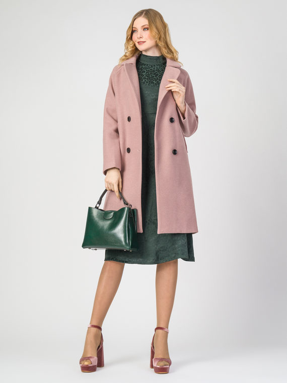 Текстильное пальто 30%шерсть, 70% п.э, цвет розовый, арт. 11107920  - цена 4740 руб.  - магазин TOTOGROUP