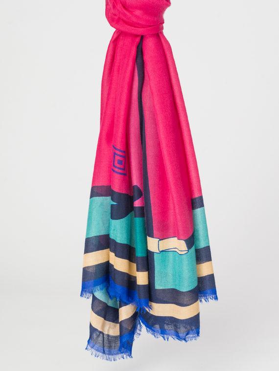 Шарф 100% бамбук, цвет розовый, арт. 11107928  - цена 990 руб.  - магазин TOTOGROUP
