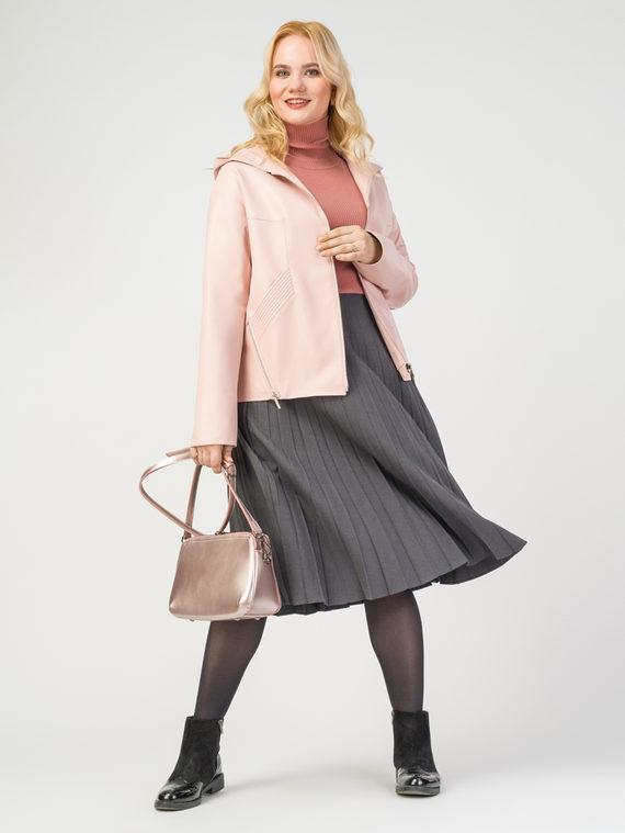 Кожаная куртка эко-кожа 100% П/А, цвет розовый, арт. 11108160  - цена 6290 руб.  - магазин TOTOGROUP