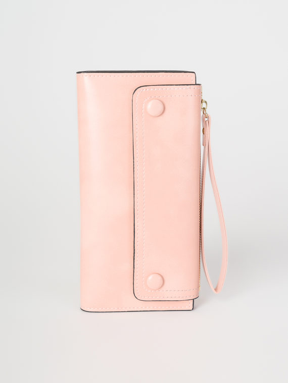 Кошелек эко-кожа теленок, цвет розовый, арт. 11108260  - цена 790 руб.  - магазин TOTOGROUP