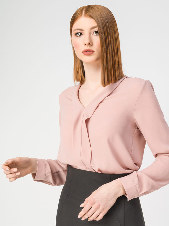 Блуза 100% полиэстер, цвет розовый, арт. 11108316  - цена 2420 руб.  - магазин TOTOGROUP
