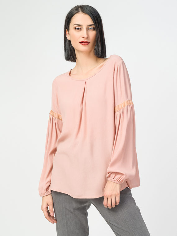 Блуза 100% вискоза, цвет розовый, арт. 11108319  - цена 2840 руб.  - магазин TOTOGROUP