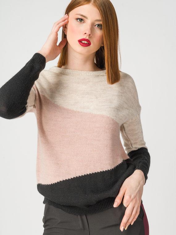 Джемпер 75% акрил 10% шерсть 10% вискоза 5% альпака, цвет розовый, арт. 11108367  - цена 1660 руб.  - магазин TOTOGROUP