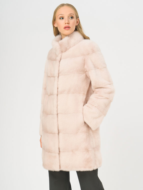 Шуба из норки мех норка, цвет розовый, арт. 11108829  - цена 75990 руб.  - магазин TOTOGROUP