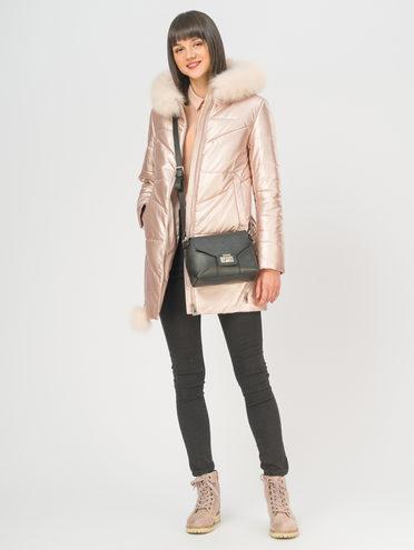 Кожаная куртка эко-кожа 100% П/А, цвет розовый, арт. 11109049  - цена 12690 руб.  - магазин TOTOGROUP