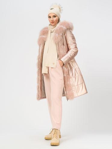 Кожаное пальто эко-кожа 100% П/А, цвет розовый, арт. 11109077  - цена 16990 руб.  - магазин TOTOGROUP