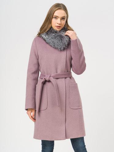 Текстильное пальто 35% шерсть, 65% полиэстер, цвет розовый, арт. 11109098  - цена 6990 руб.  - магазин TOTOGROUP