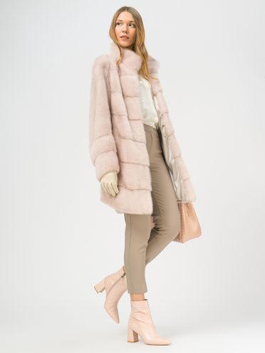 Шуба из норки мех норка, цвет розовый, арт. 11109218  - цена 105990 руб.  - магазин TOTOGROUP
