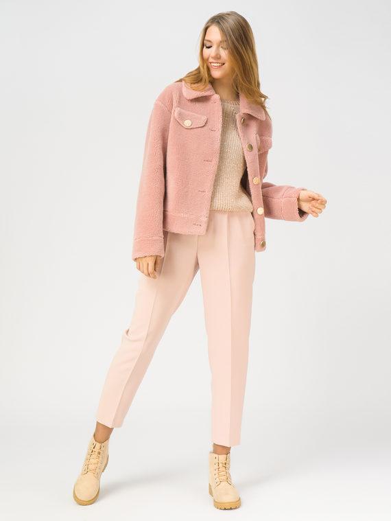 Шуба из эко-меха эко мех 100% П/Э, цвет розовый, арт. 11109256  - цена 4990 руб.  - магазин TOTOGROUP