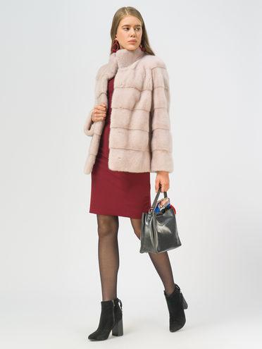 Шуба из норки мех норка, цвет розовый, арт. 11109661  - цена 59990 руб.  - магазин TOTOGROUP