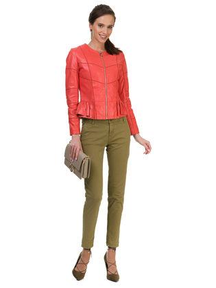Кожаная куртка кожа овца, цвет розовый, арт. 11700016  - цена 9990 руб.  - магазин TOTOGROUP