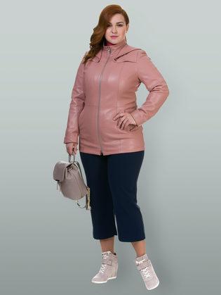 Кожаная куртка эко кожа 100% П/А, цвет розовый, арт. 11700168  - цена 4740 руб.  - магазин TOTOGROUP