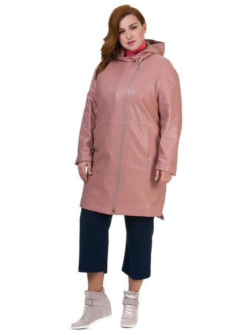 Кожаное пальто артикул 11700170/48 - фото 2