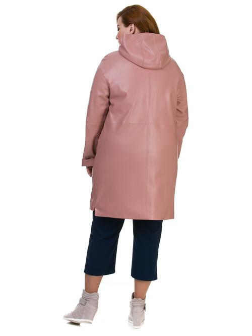 Кожаное пальто артикул 11700170/48 - фото 3