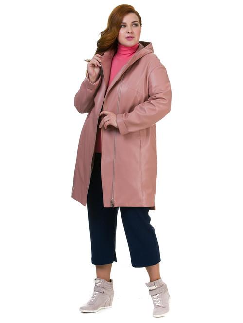 Кожаное пальто артикул 11700170/48 - фото 4