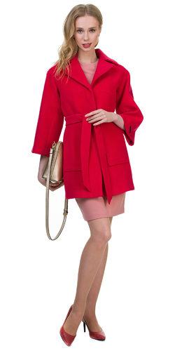 Текстильное пальто 30%шерсть, 70% п\а, цвет розовый, арт. 11700398  - цена 3190 руб.  - магазин TOTOGROUP