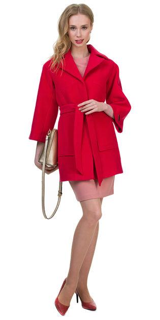 Текстильное пальто 30%шерсть, 70% п\а, цвет розовый, арт. 11700398  - цена 2990 руб.  - магазин TOTOGROUP