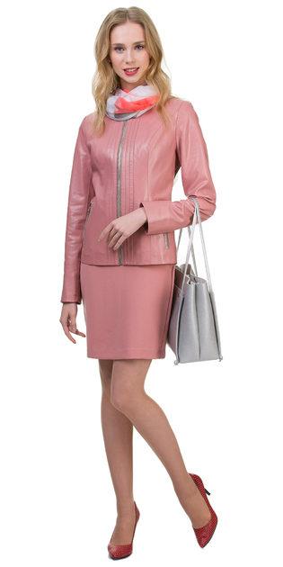 Кожаная куртка эко кожа 100% П/А, цвет розовый, арт. 11700484  - цена 5990 руб.  - магазин TOTOGROUP