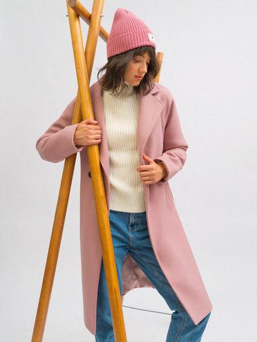 Текстильное пальто 30% шерсть, 70% п.э, цвет розовый, арт. 11719894  - цена 7990 руб.  - магазин TOTOGROUP
