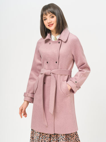 Текстильное пальто 35% шерсть, 65% полиэстер, цвет розовый, арт. 11809967  - цена 4990 руб.  - магазин TOTOGROUP