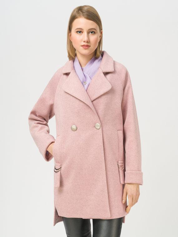 Текстильная куртка 35% шерсть, 65% полиэстер, цвет розовый, арт. 11810103  - цена 4990 руб.  - магазин TOTOGROUP