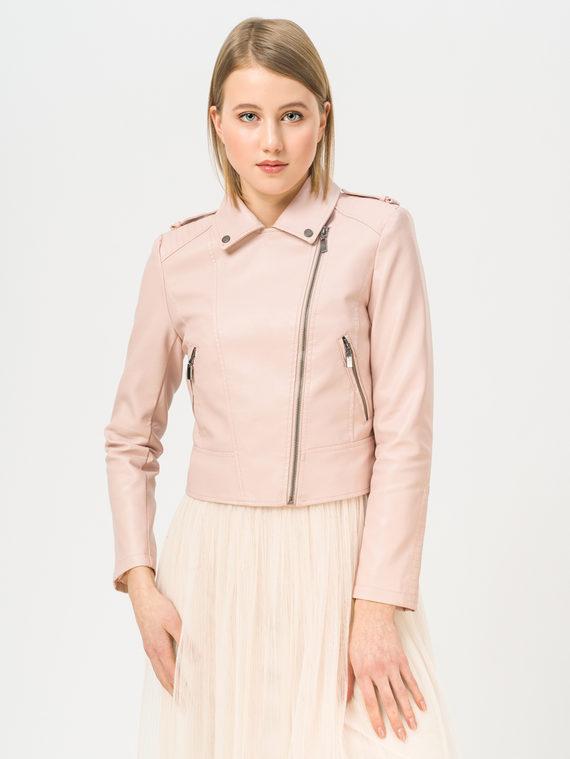 Кожаная куртка эко-кожа 100% П/А, цвет розовый, арт. 11810126  - цена 3790 руб.  - магазин TOTOGROUP
