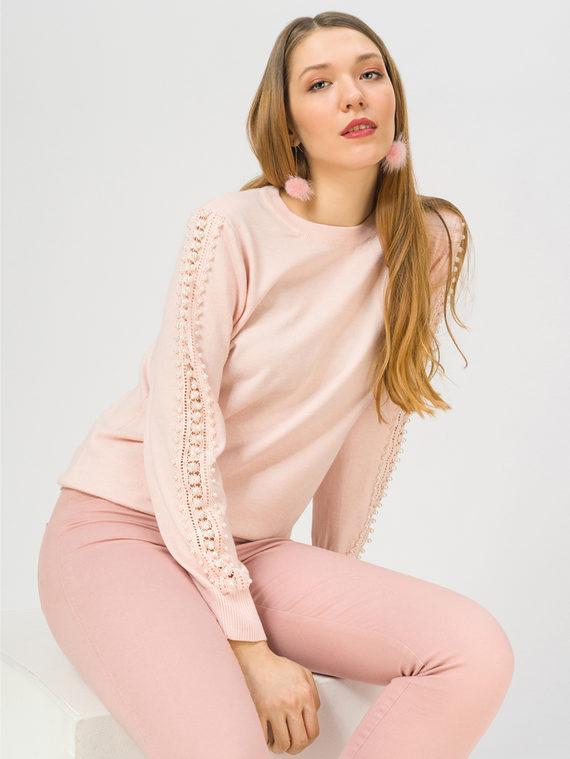 Джемпер , цвет розовый, арт. 11810236  - цена 990 руб.  - магазин TOTOGROUP