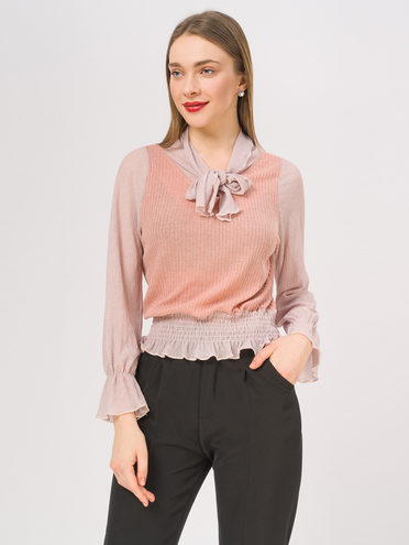 Блуза 95% полиэстер 5% эластан, цвет розовый, арт. 11810254  - цена 840 руб.  - магазин TOTOGROUP