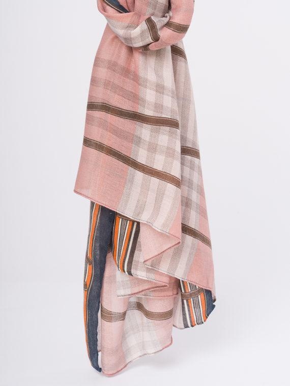 Шарф 50%хлопок,50%бамбук, цвет розовый, арт. 11810293  - цена 940 руб.  - магазин TOTOGROUP