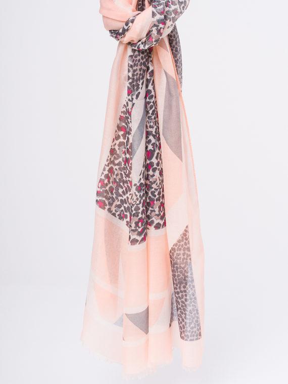 Шарф 50%хлопок,50%вискоза, цвет розовый, арт. 11810299  - цена 940 руб.  - магазин TOTOGROUP