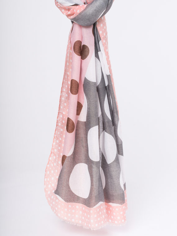 Шарф 50%хлопок,50%вискоза, цвет розовый, арт. 11810300  - цена 940 руб.  - магазин TOTOGROUP