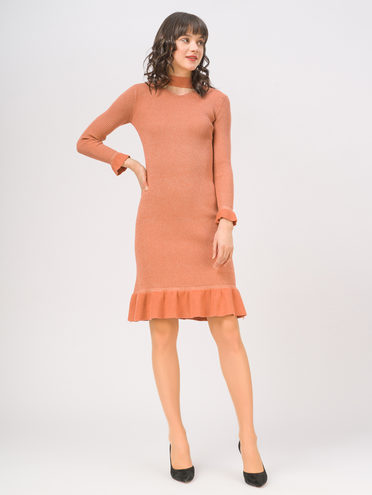 Платье 50% вискоза, 28% полиэстер, 22% нейлон, цвет розовый, арт. 11810343  - цена 1750 руб.  - магазин TOTOGROUP