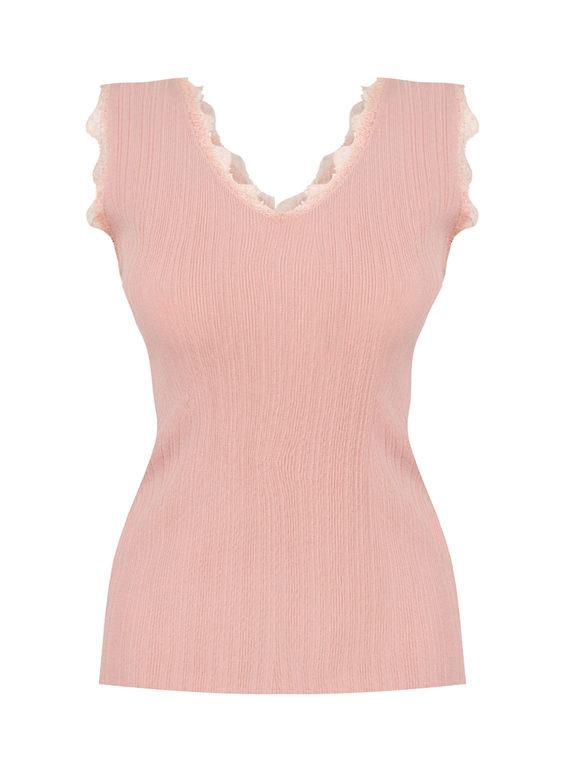 Джемпер 65%вискоза,35%нейлон, цвет розовый, арт. 11810550  - цена 990 руб.  - магазин TOTOGROUP
