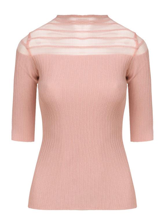 Джемпер 65%вискоза,35%нейлон, цвет розовый, арт. 11810551  - цена 1260 руб.  - магазин TOTOGROUP