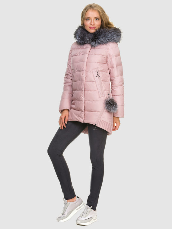 Пуховик текстиль, цвет розовый, арт. 11900786  - цена 8490 руб.  - магазин TOTOGROUP