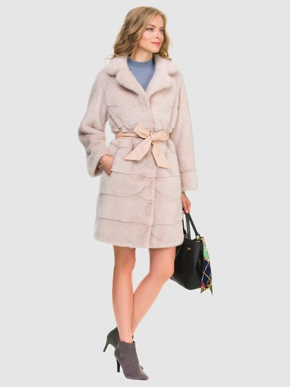 Шуба из норки мех норка, цвет розовый, арт. 11900861  - цена 94990 руб.  - магазин TOTOGROUP