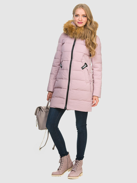 Пуховик текстиль, цвет розовый, арт. 11900948  - цена 6630 руб.  - магазин TOTOGROUP