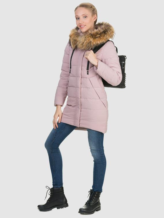 Пуховик текстиль, цвет розовый, арт. 11900951  - цена 6630 руб.  - магазин TOTOGROUP